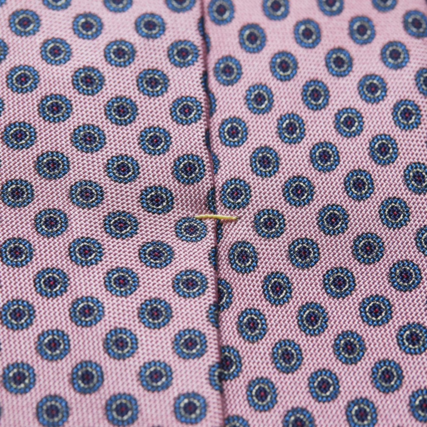100% silk premium quality made in Italy men's geometric print tie in pink