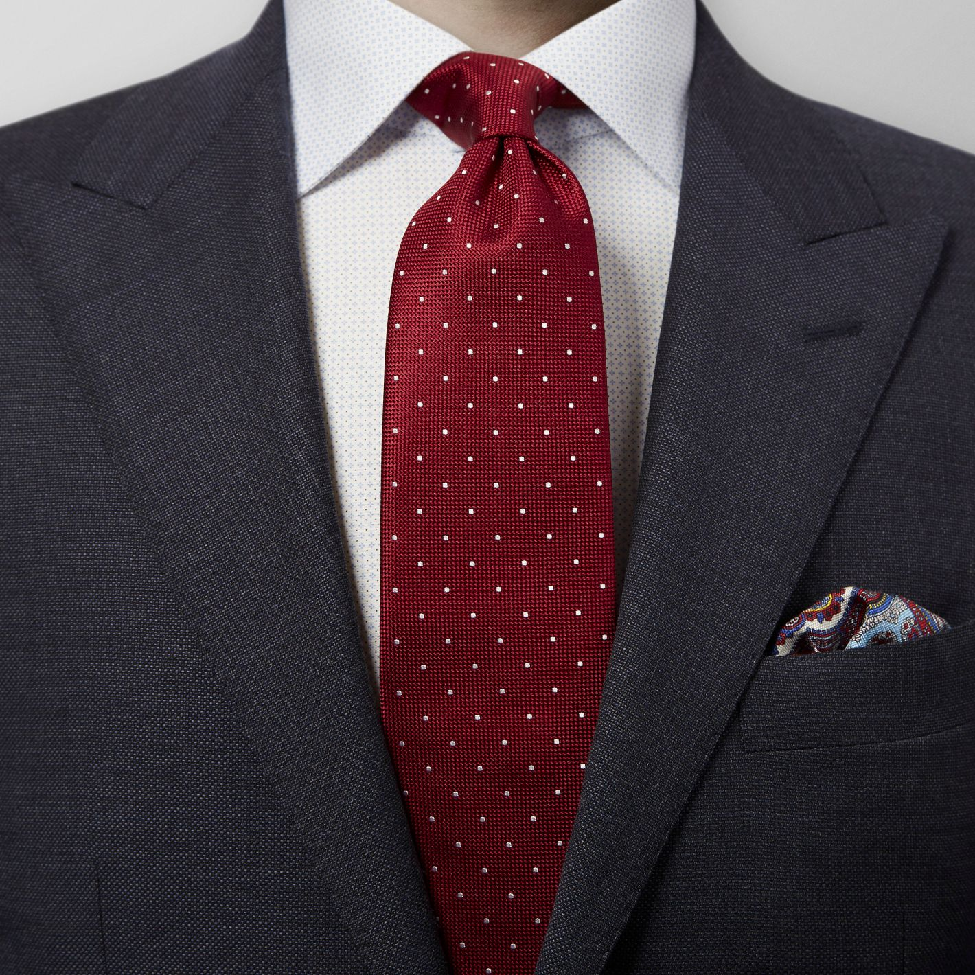 100% silk premium quality made in England men's Red dot tie