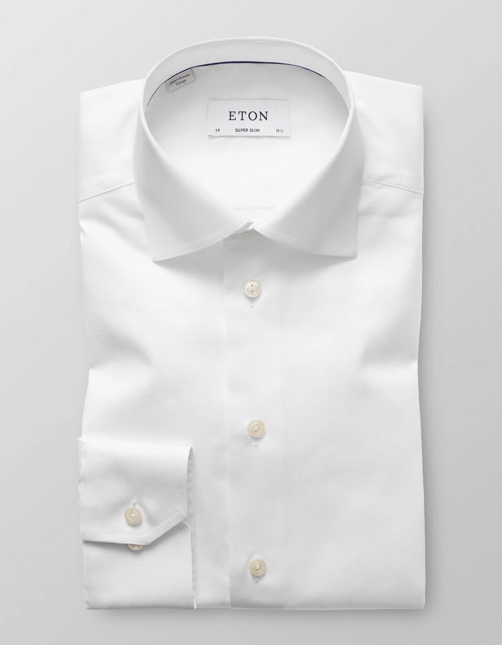 Premium quality formal men's shirt in white signature twill