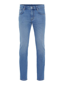 J. Lindeberg stretch men's blue jeans