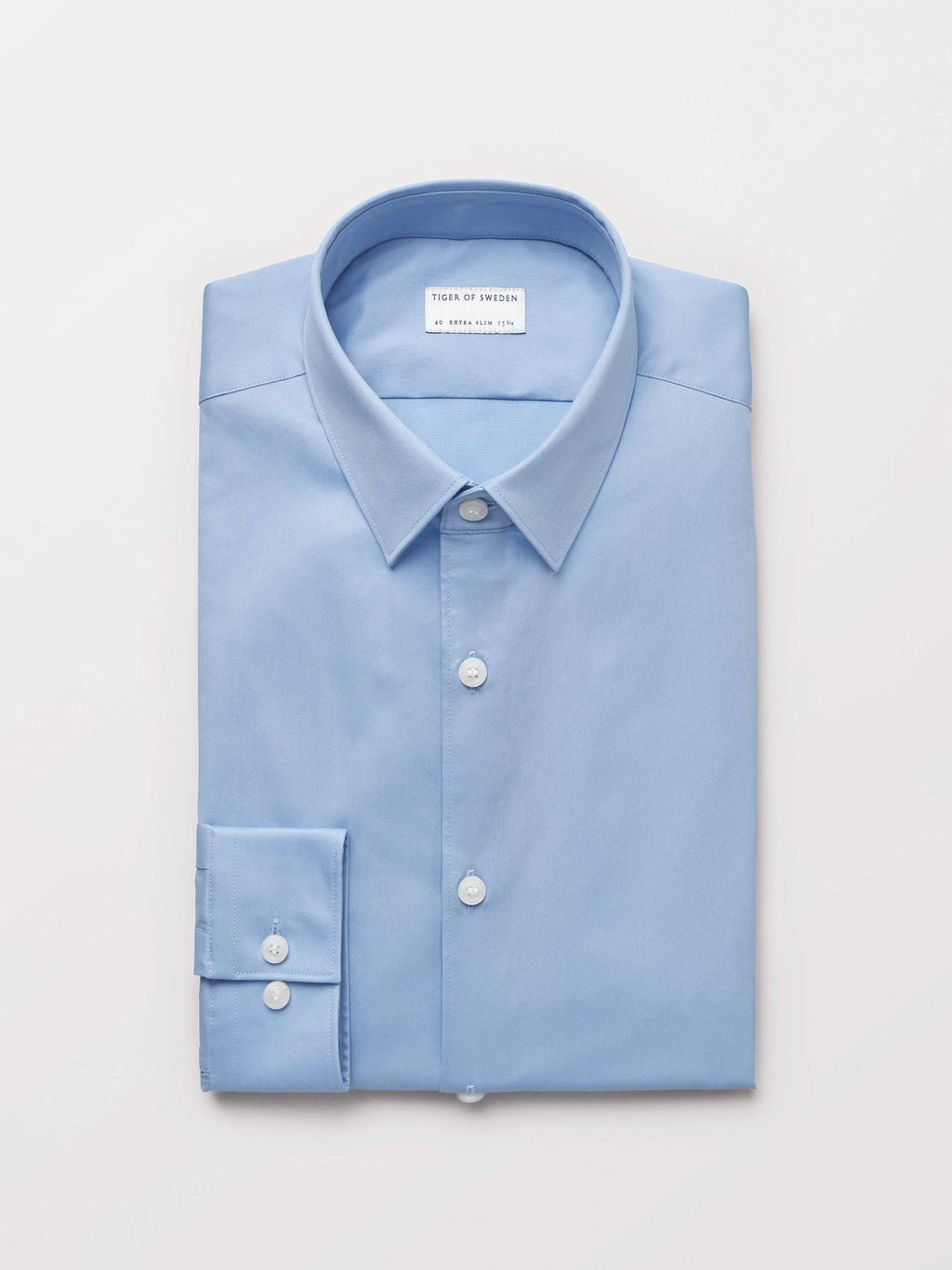 Blue shirt for men classical summer 2019