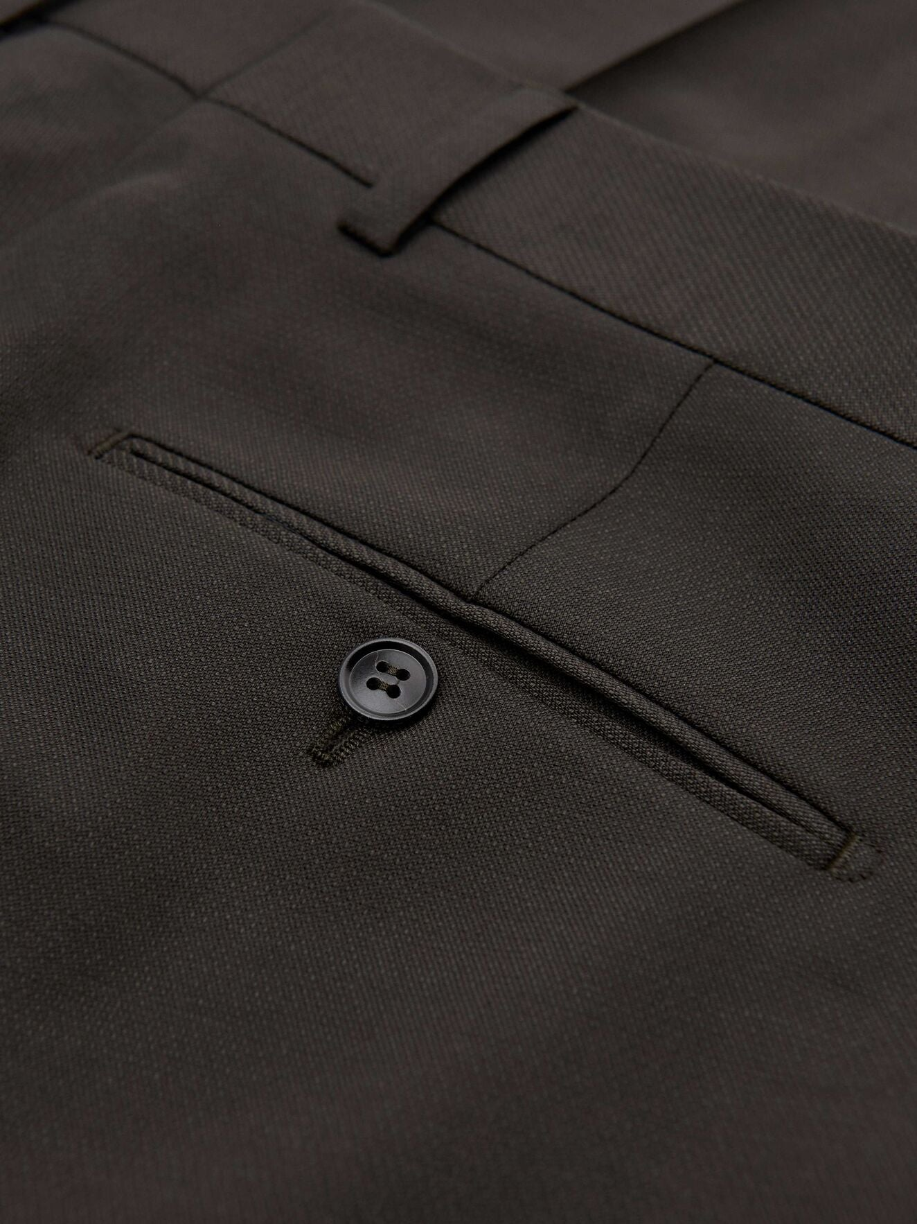 Tiger of Sweden Wool Trousers in Charcoal color in details