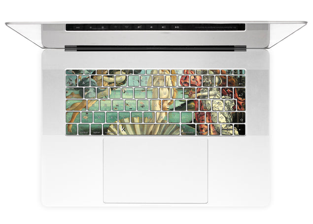 La Naissance de Vénus (Botticelli) Stickers Autocollants Clavier MacBook alternative