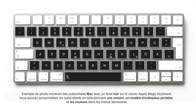Stickers Autocollants Clavier Allemand QWERTZ pour Mac