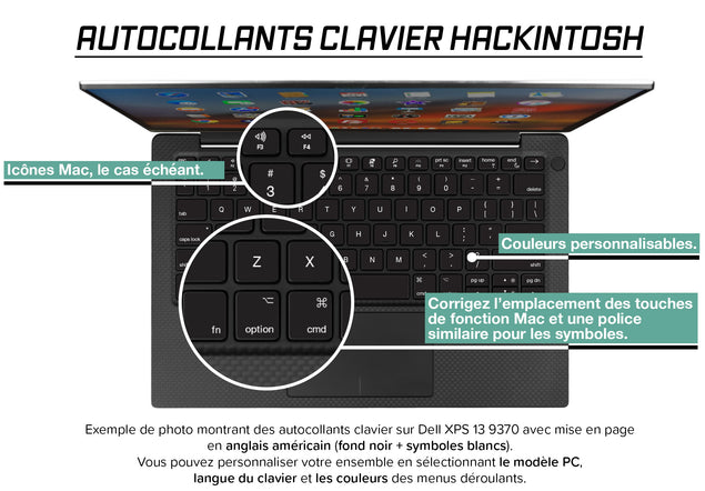Stickers Autocollants Clavier Hackintosh