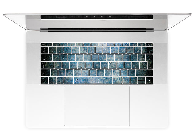 Béton Bleu Stickers Autocollants Clavier MacBook alternative