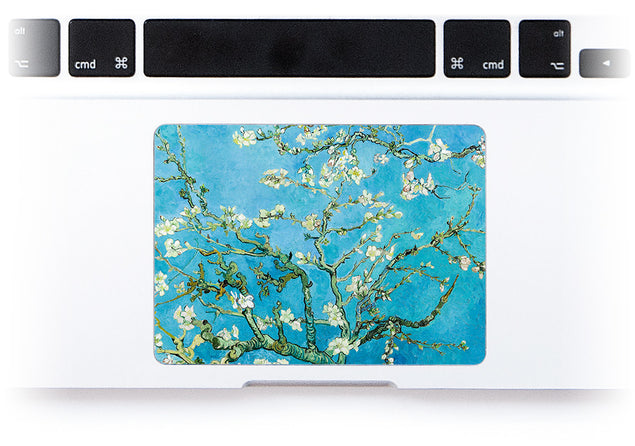 Fleur D'Amande par van Gogh Sticker Pour Trackpad Mac alternative