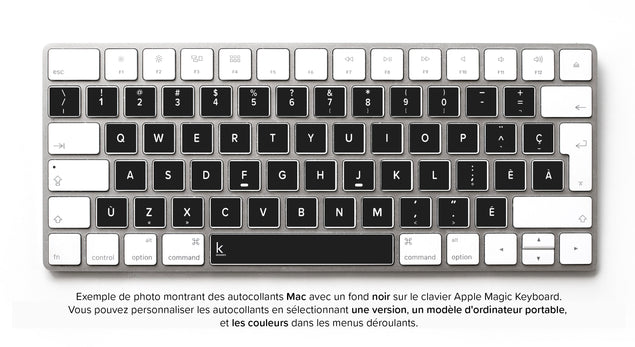 Stickers Autocollants Clavier Français (Canadien) pour Mac