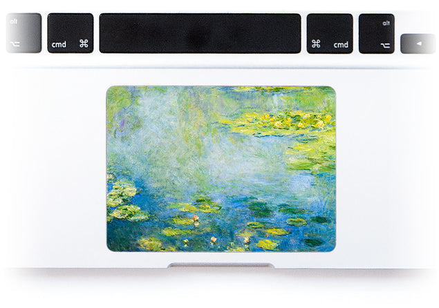 Nénuphars Bleus de Monet Sticker Pour Trackpad Mac alternative