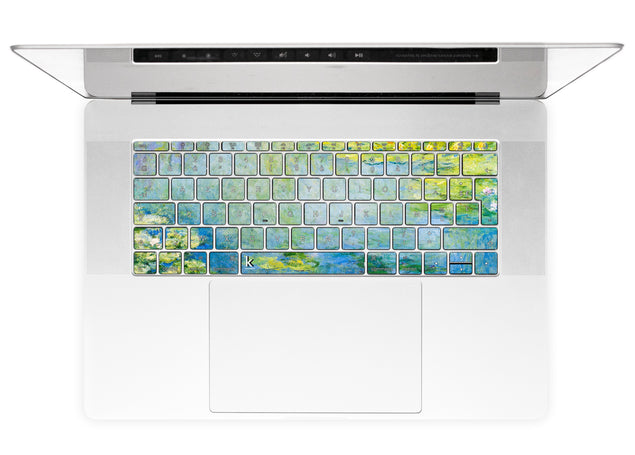 Nénuphars Bleus de Monet Stickers Autocollants Clavier MacBook alternative