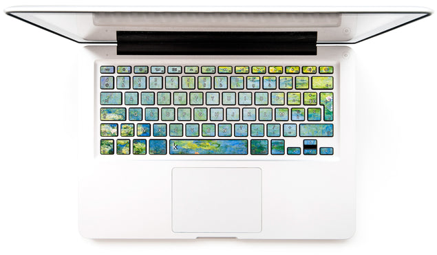 Nénuphars Bleus de Monet Stickers Autocollants Clavier MacBook