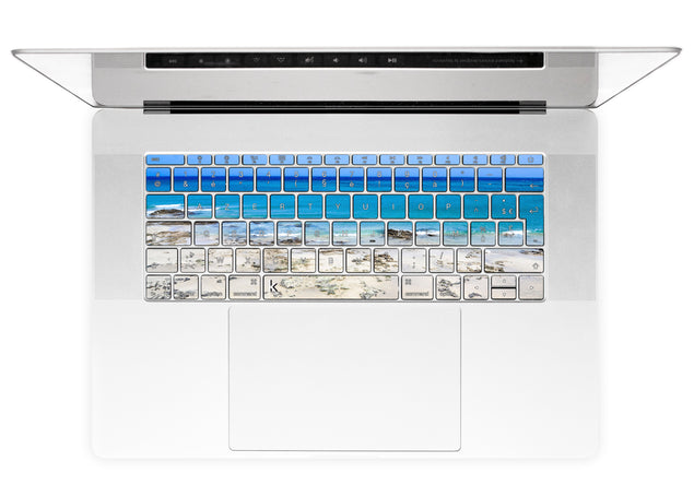 Plage de Fuerteventura Stickers Autocollants Clavier MacBook alternative