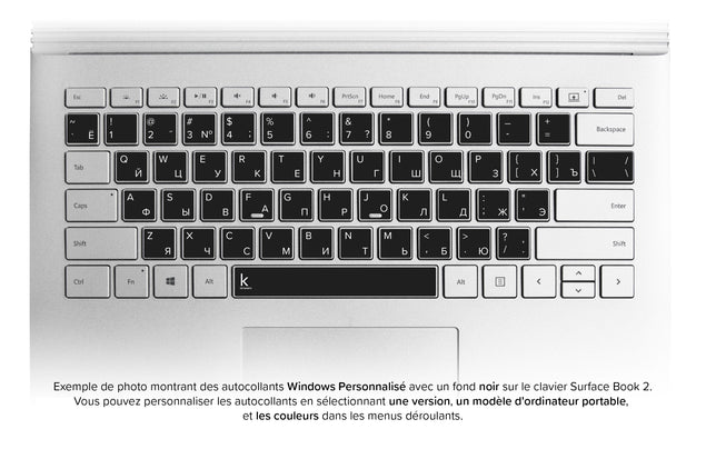 Stickers Autocollants Clavier Russe (Cyrillique) Windows personalisee