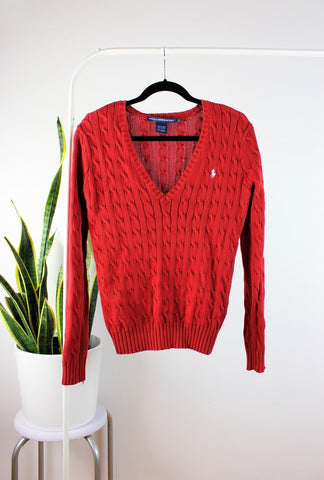 Tricot Polo Ralph Lauren rouge