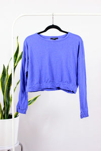 Chandail style croptop mauve
