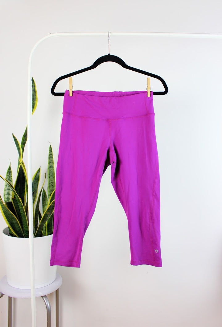Legging mi-long mauve flash