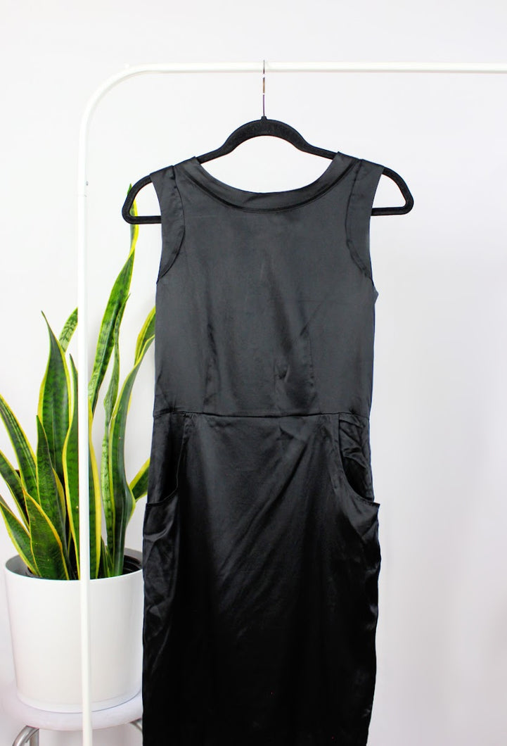 Robe « shapeless » satinée