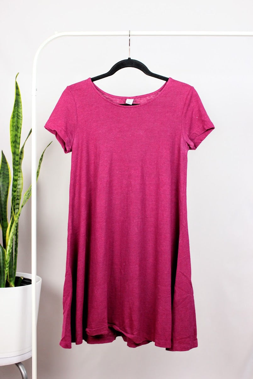 Robe style « t-shirt dress » bourgogne