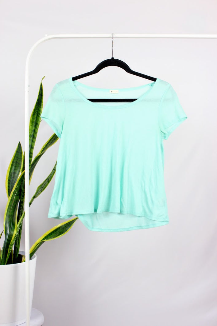 T-shirt ample turquoise