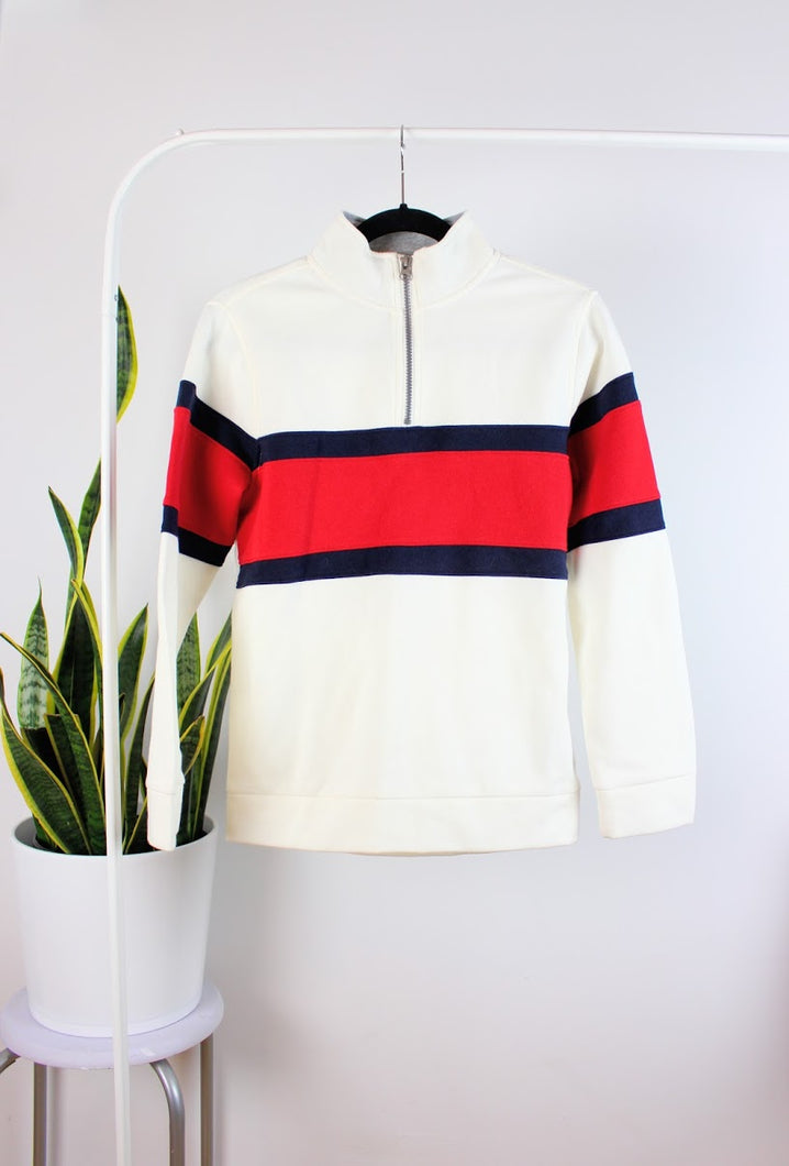 Veste turtleneck tricolore