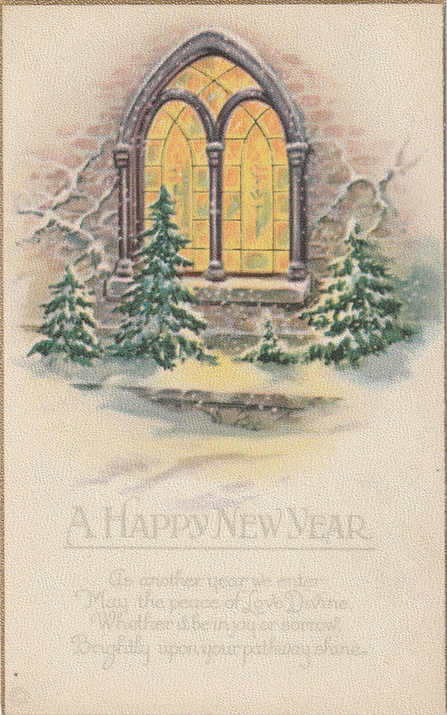 As You Enter the New Year Antique Postcard 1 of 8