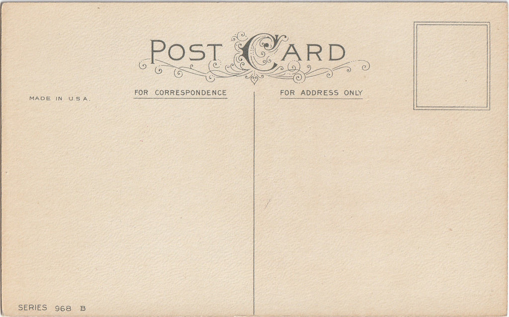 As You Enter the New Year Antique Postcard 1 of 8 Back