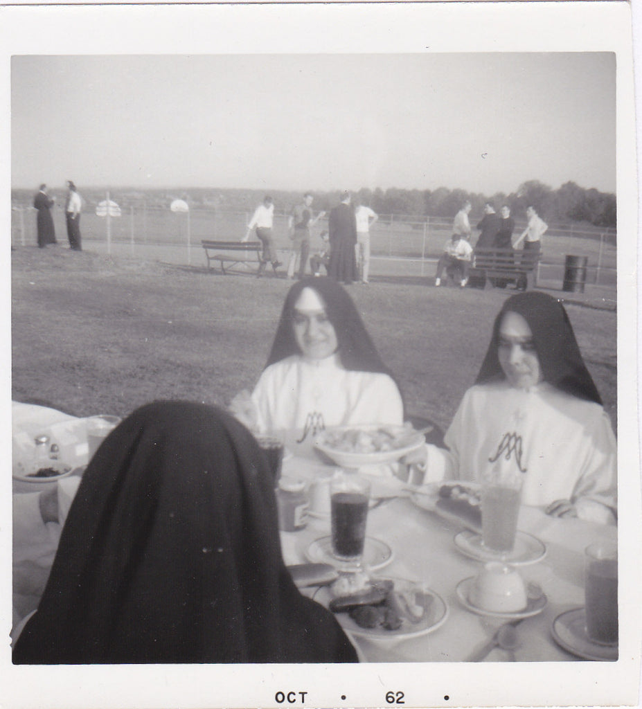 Nuns at Picnic Snapshot