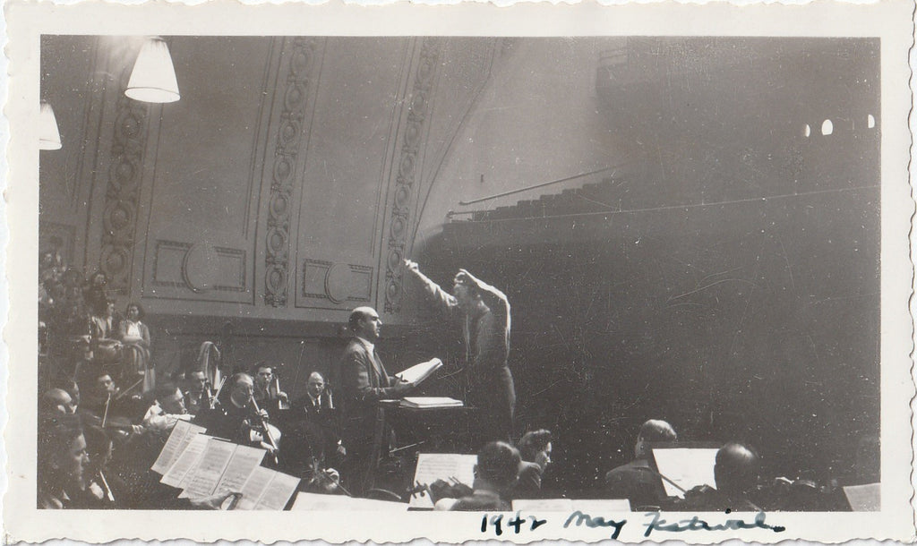 1942 May Festival Norman Cordon Thor Johnson Philadelphia Orchestra Photo