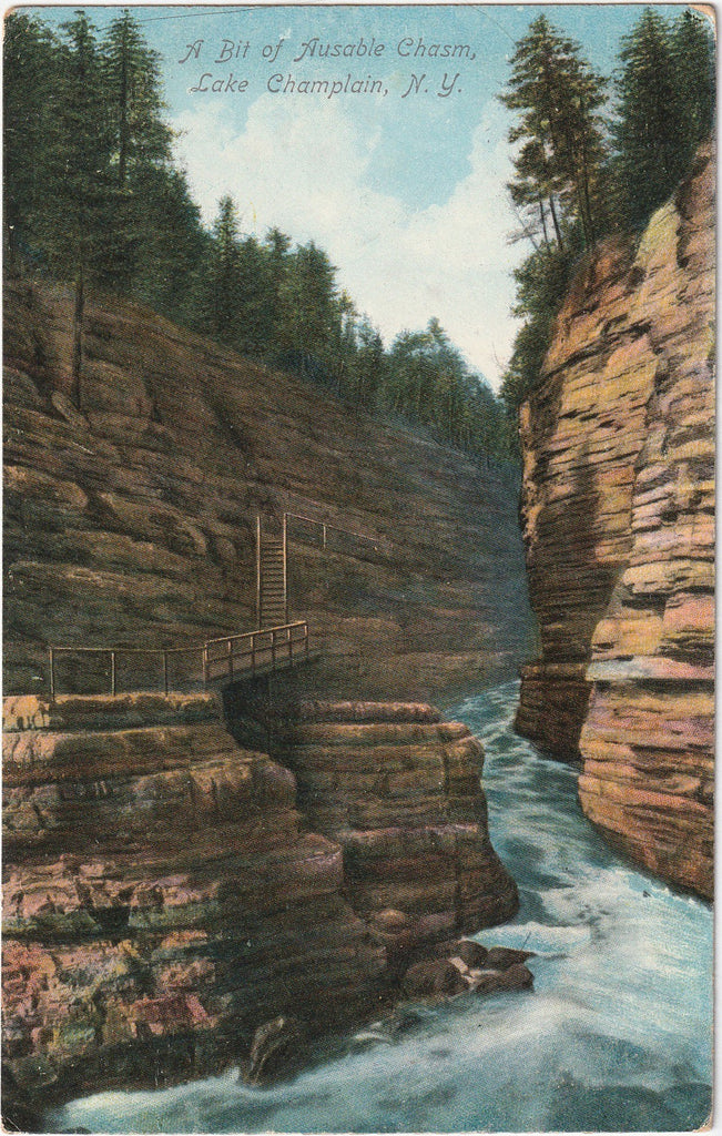A Bit of Ausable Chasm - Lake Champlain, New York - Postcard, c. 1910s