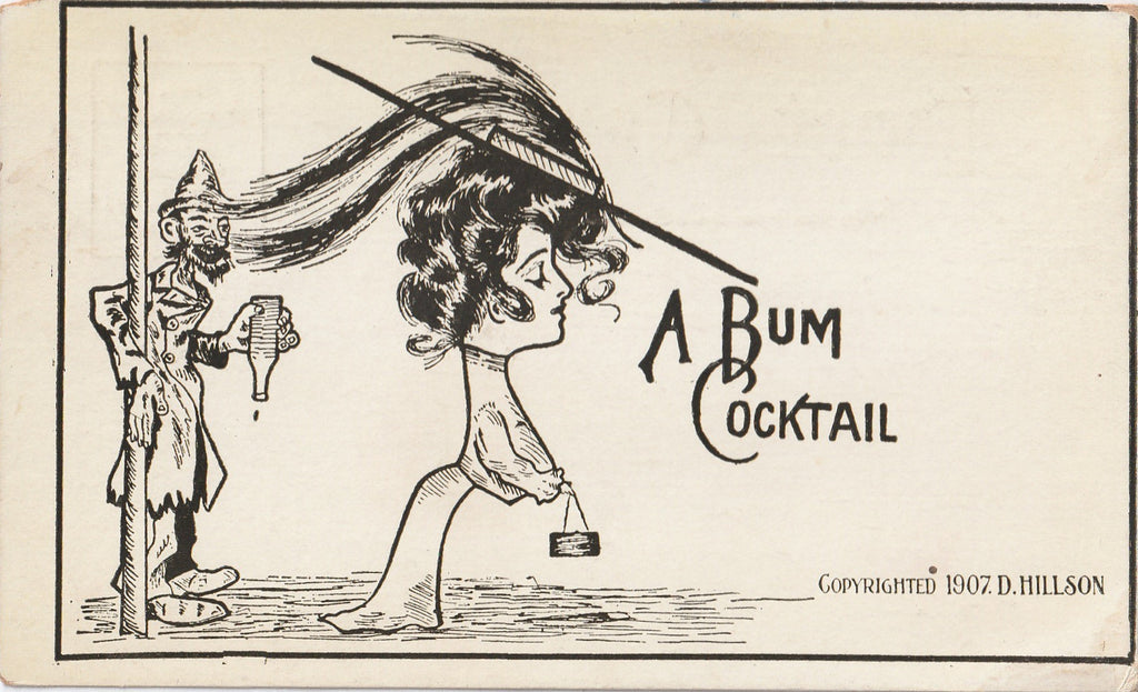 Bum Cocktail D Hillson Postcard