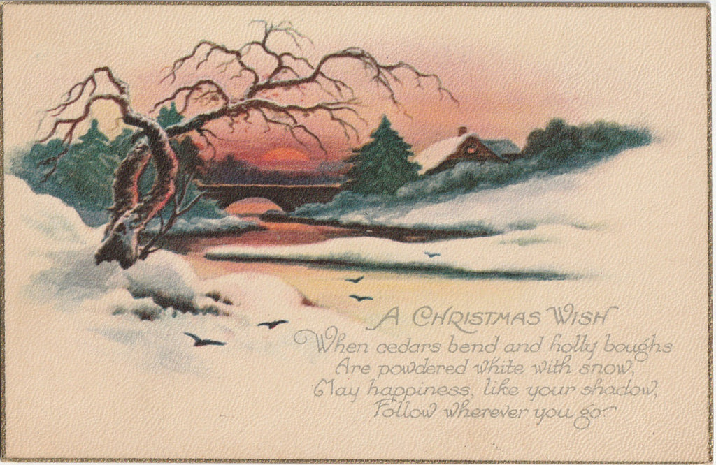 A Christmas Wish - Postcard, c. 1920s