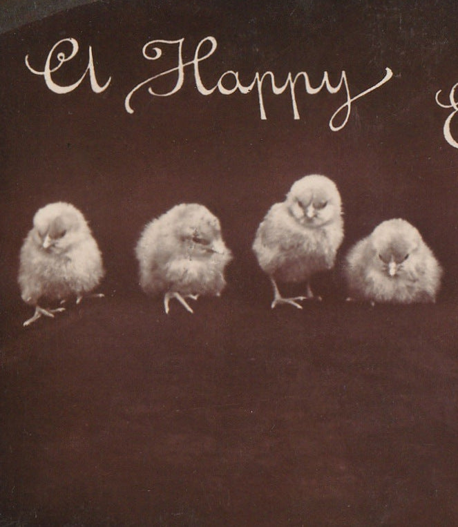 A Happy Easter Rotograph RPPC Antique Photo Postcard Close Up 2