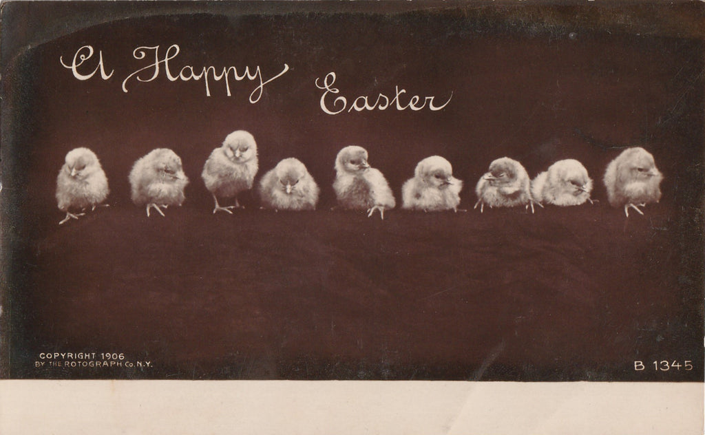 A Happy Easter Rotograph RPPC Antique Photo Postcard