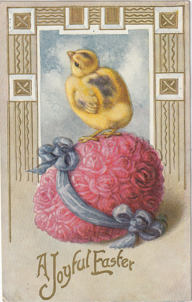 A Joyful Easter Antique Postcard