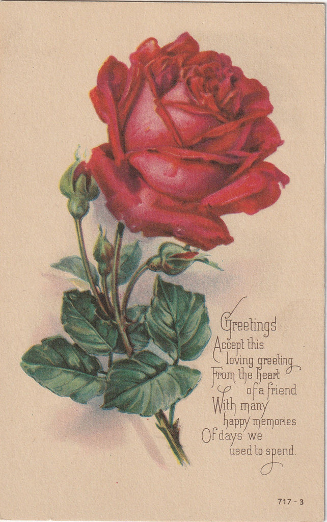 Accept This Loving Greeting, From The Heart of a Friend - Postcard, c. 1920s