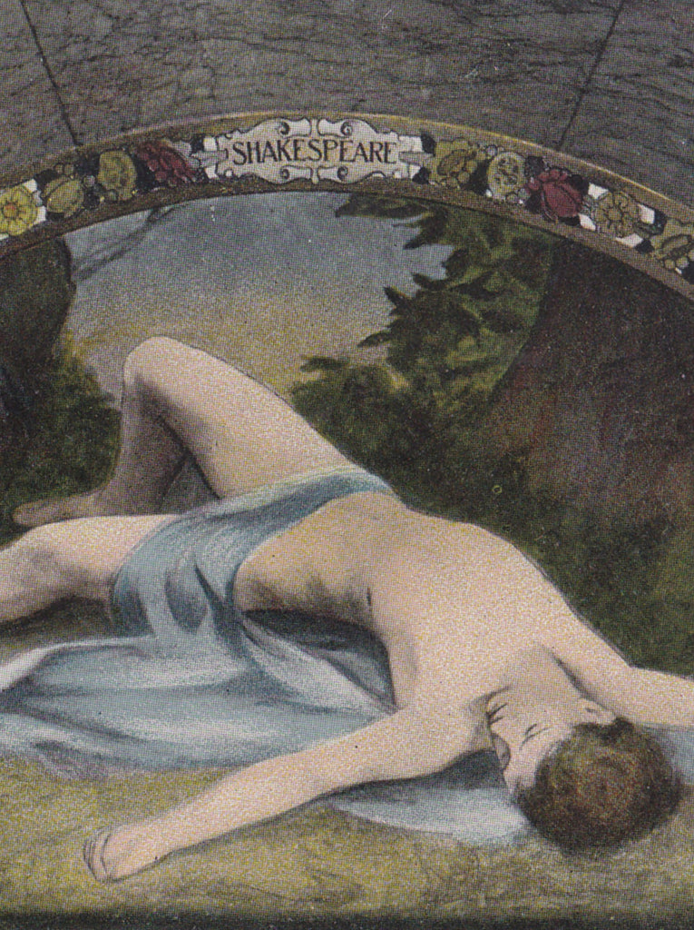 Shakespeare's Adonis Library of Congress Postcard Close Up