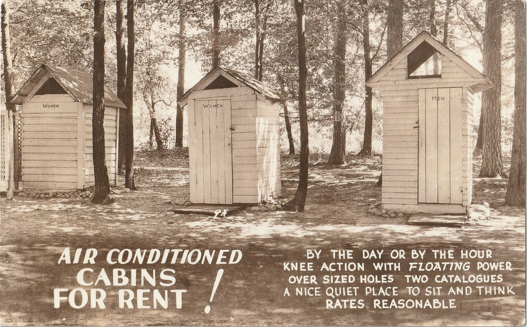 Air Conditiones Cabins For Rent Outhouse RPPC