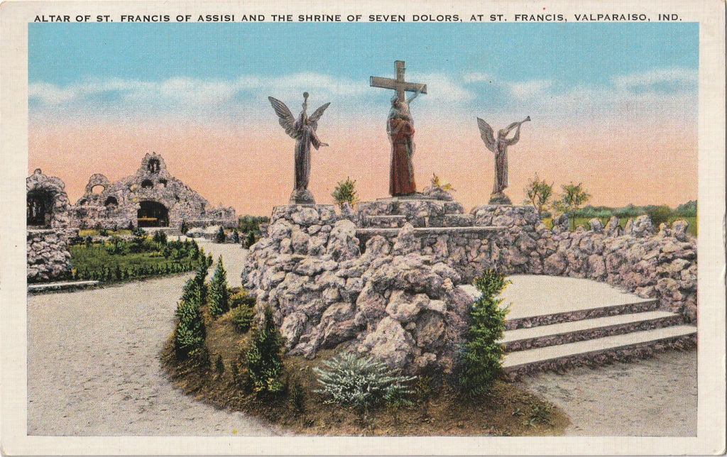 Altar of St. Francis of Assisi Shrine of Seven Dolors Postcard