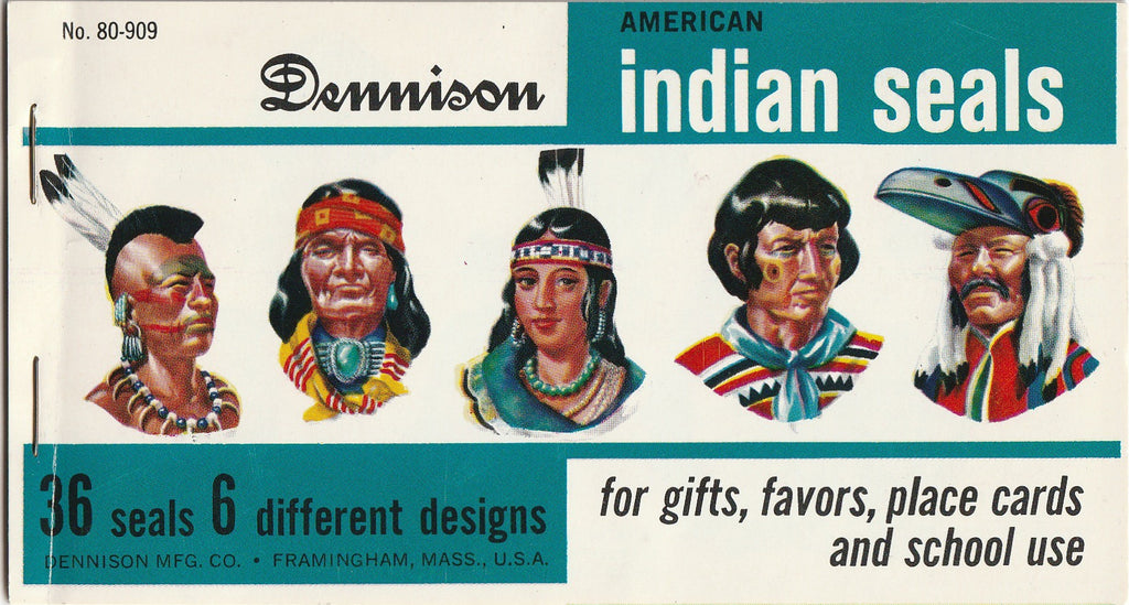 Dennison American Indian Vintage Envelope Seals