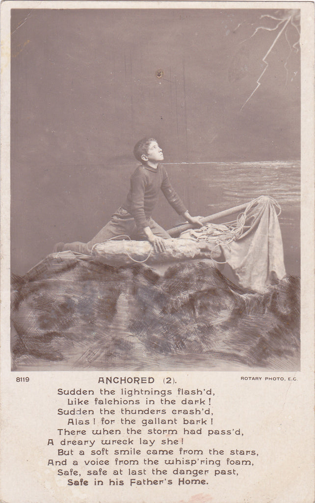 Anchored Poem Verse RPPC