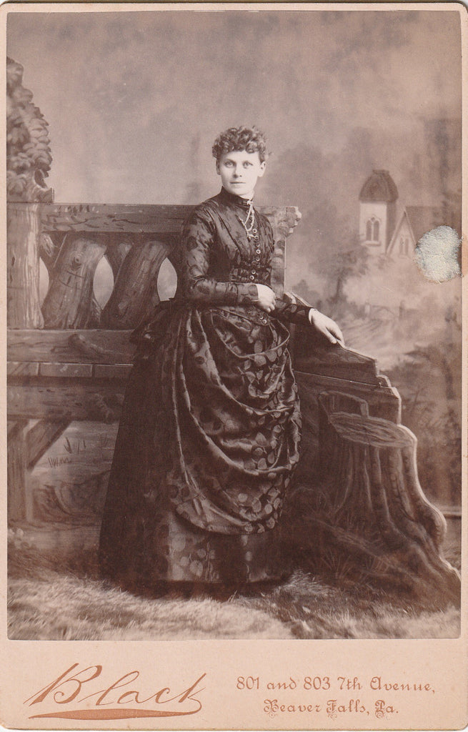 Victorian Apple Dress Beaver Falls PA Cabinet Photo