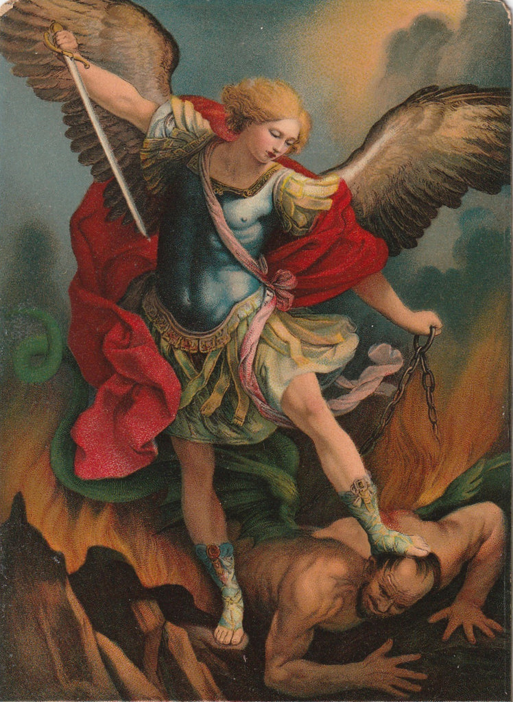 Archangel Michael Guido Remi Postcard Close Up