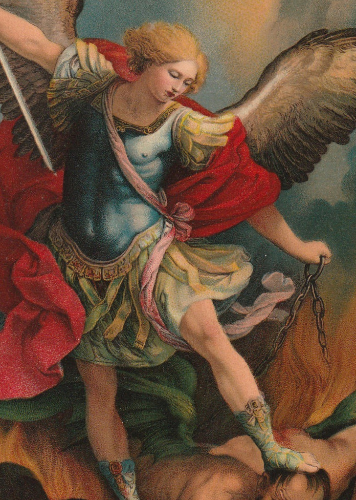 Archangel Michael Guido Remi Postcard Close Up 2