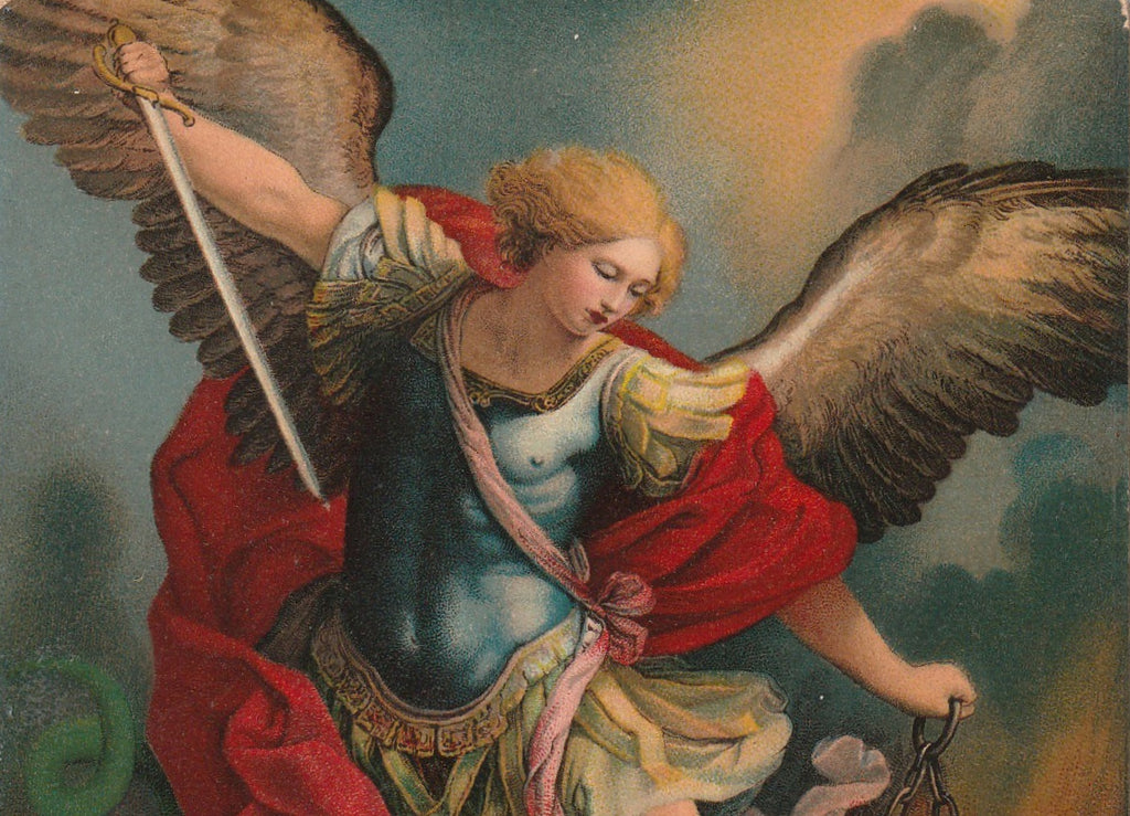 Archangel Michael Guido Remi Postcard Close Up 3