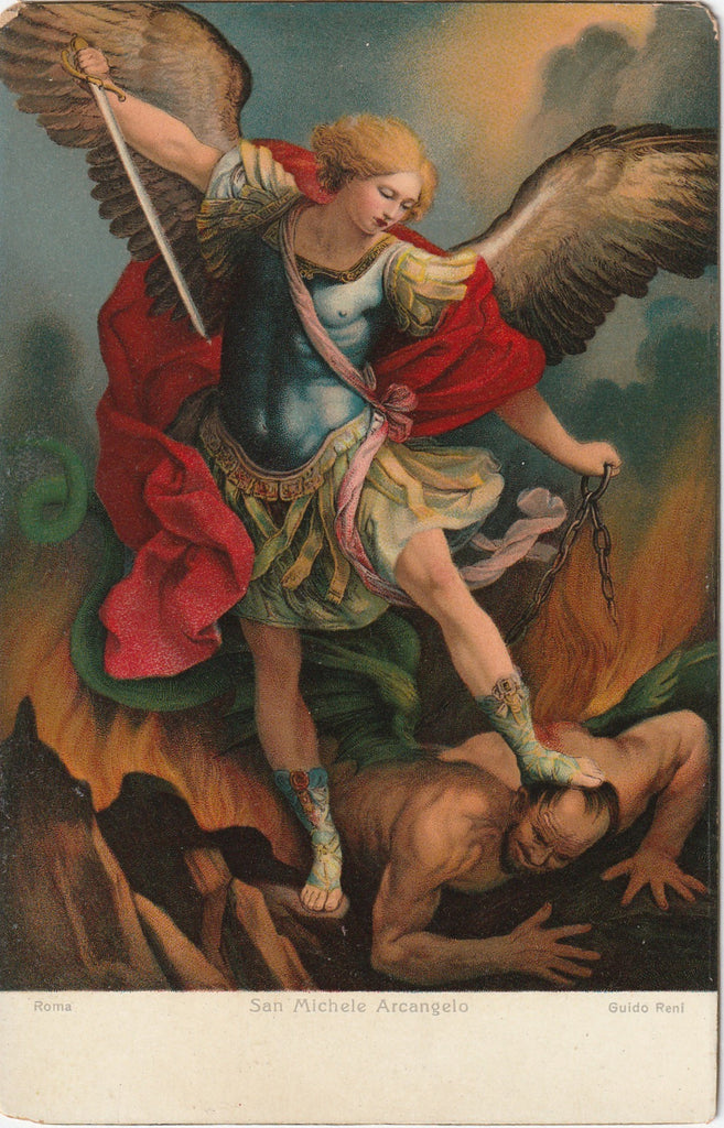 Archangel Michael Guido Remi Postcard