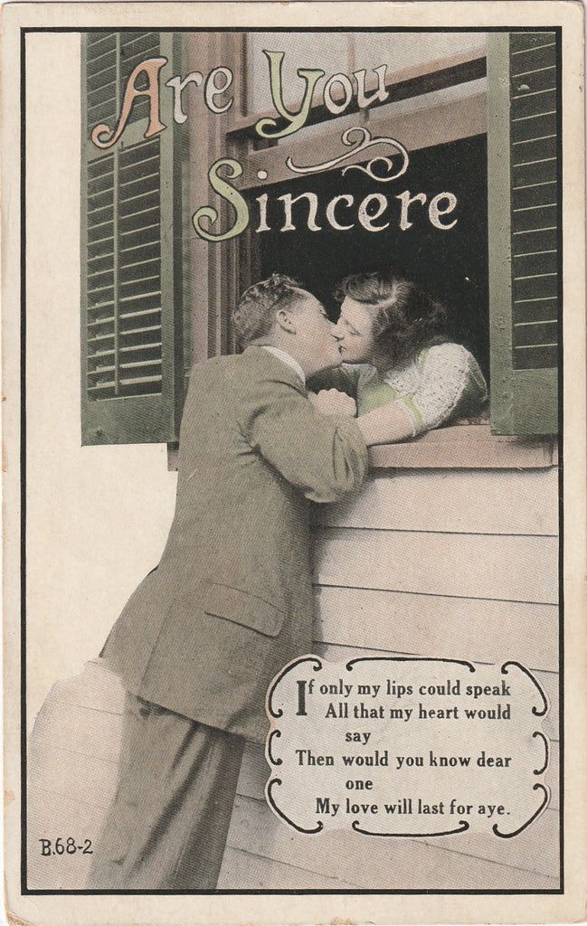 Are You Sincere Antique Romance Postcard