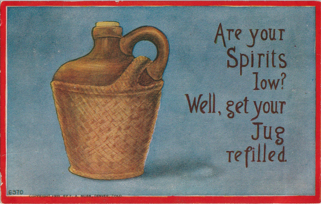 Are Your Spirits Low Postcard