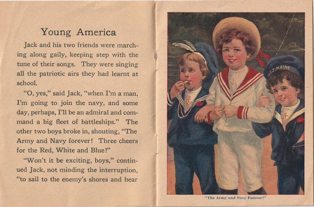 Young America Antique Booklet Inside 1