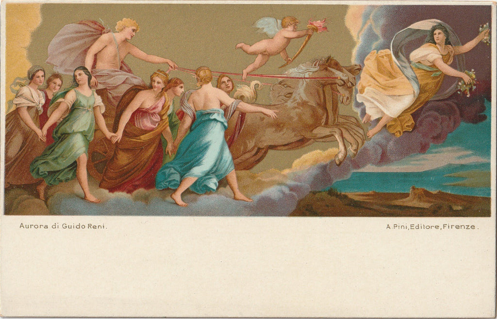 Aurora Guido Reni Antique Postcard