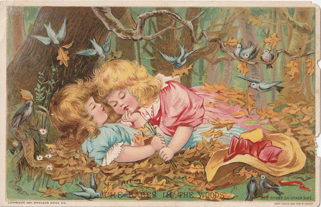 Babes in the Woods Woolson Spice Trade Card